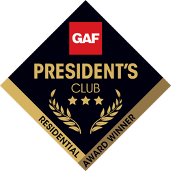 Bachman's Roofing Becomes 1 of 25 Companies in the Country to Receive GAF's Prestigious 3-Star Presidents Club Award