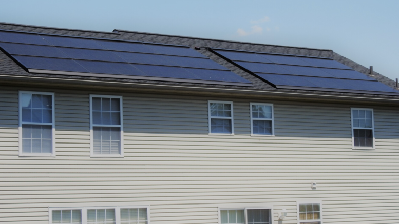 solar panel view from back of the house